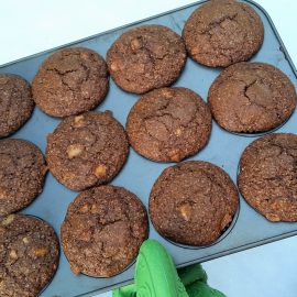 Pear Apple GingerBran Muffins